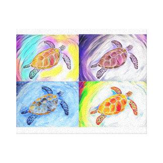 Seeschildkrötewatercolor-Leinwand-Druck Leinwanddruck