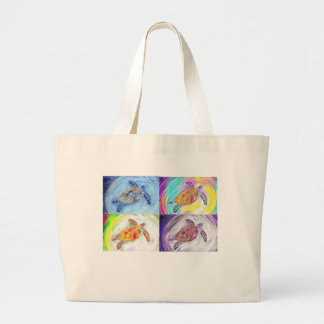 Seeschildkrötewatercolor-Tasche Jumbo Stoffbeutel