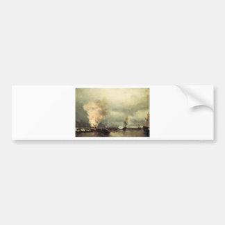 Seeschlacht nahe Wyborg durch Iwan Aivazovsky Autoaufkleber
