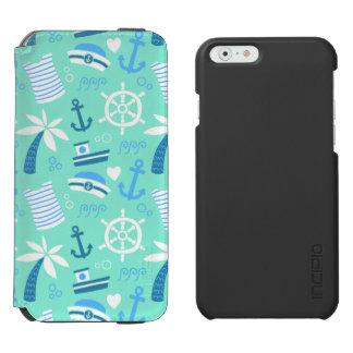 Seeseemannmuster der frischen Minze Incipio Watson™ iPhone 6 Geldbörsen Hülle