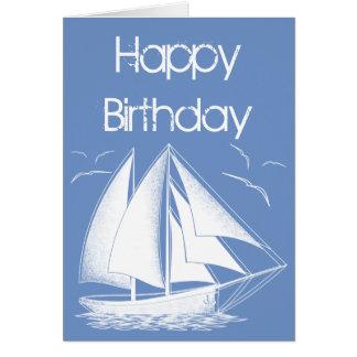 SeeSegelboot alles Gute zum Geburtstag Karte