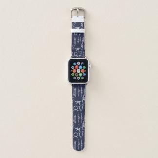 Seeseil-Knoten u. Marine-Blau Apple Watch Armband