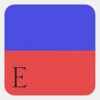 Seesignal-Flaggen-Alphabet-Aufkleber E Quadratischer Aufkleber