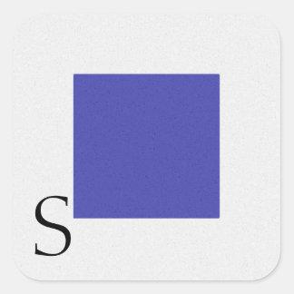 Seesignal-Flaggen-Alphabet-Aufkleber S Quadratischer Aufkleber