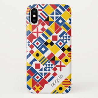 Seesignal-Flaggen-Muster iPhone X Hülle