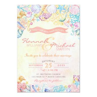 Seestrand-Hochzeits-Einladung Karte