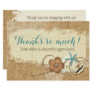 SeestrandSeashell u. Sand-Butike danken Ihnen Karte