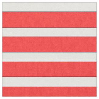 Seestreifen im Rot, rotes Stripy Gewebe Stoff
