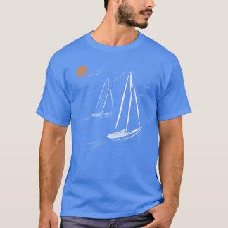 Seestückchen-Küstensegeln Yachts dunkle T-Shirts