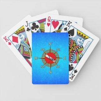 Seetauchen-Kompass Poker Karten