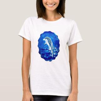 Seetier, das Delphin-Kunst springt T-Shirt