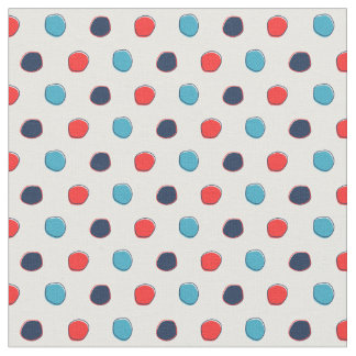 SeeTupfen-Gewebe, Rot und Blau Stoff