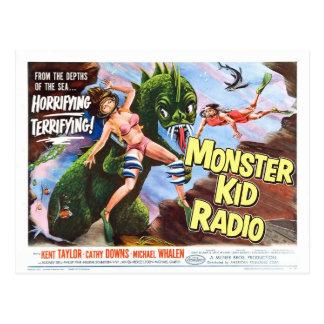 Seeungeheuer-Postkarte vom Monster-Kinderradio Postkarte