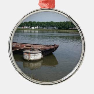 Seeverschiffenbootsboje, Schiffsseil-Kaikanal Silbernes Ornament