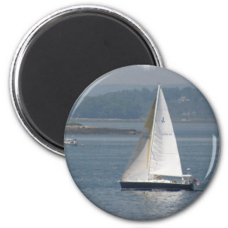Seewärtser gerichtet Segelboot-Magnet Runder Magnet 5,1 Cm