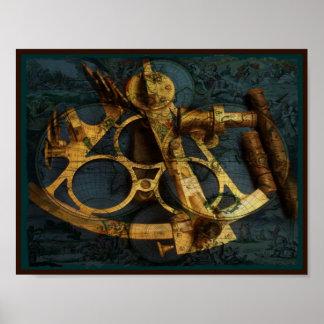 SeeWelts-Karten-Kunst Poster
