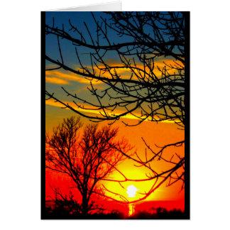 Seewinnebago-Sonnenuntergang, der an Sie denkt Karte
