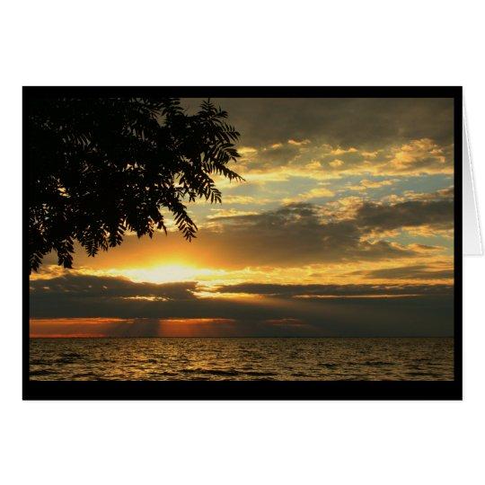 Seewinnebago-Sonnenuntergang Grußkarte