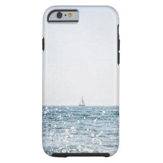 Segel-Boot auf dem Ozean-Meerblick-Seefall Tough iPhone 6 Hülle