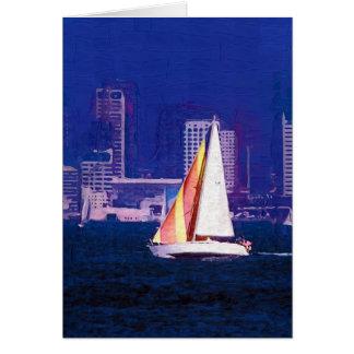 Segel-Boot, San Diego, Kalifornien Karte