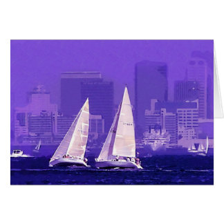 Segel-Boote, San Diego, Kalifornien Karte