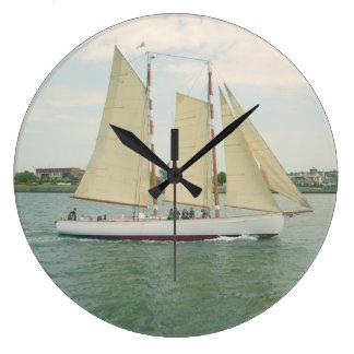Segel-Bootfahrt-Wanduhr Große Wanduhr