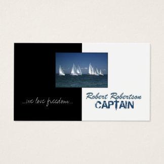 Segel-Boots-Kapitän Ship Nautical Card Visitenkarte