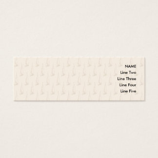 Segel-Boots-Muster. Brown und TAN Mini Visitenkarte