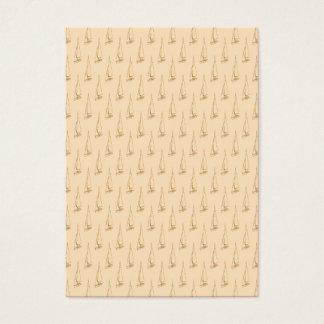 Segel-Boots-Muster. Brown und TAN Visitenkarte