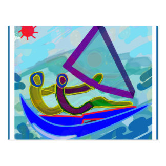 Segel-Boots-Wasser-Sport Postkarte