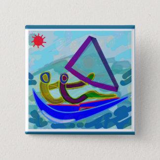Segel-Boots-Wasser-Sport Quadratischer Button 5,1 Cm