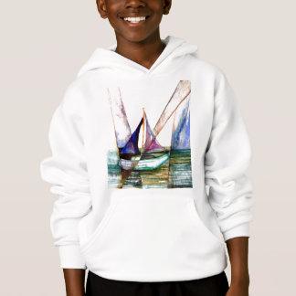 Segelboot abstrakt - CricketDiane Ozean-Kunst Hoodie
