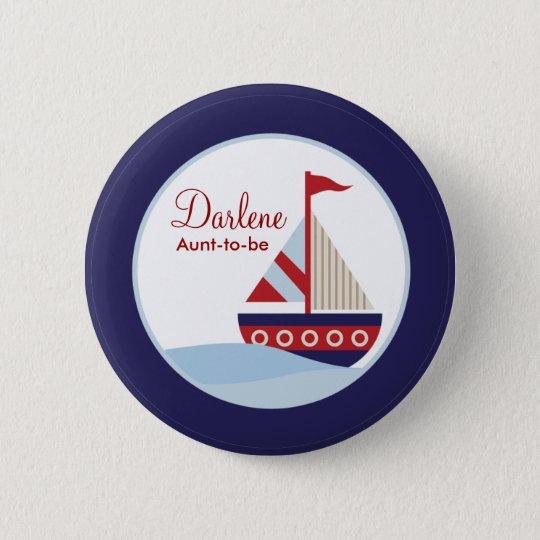 Segelboot-Knopf Runder Button 5,1 Cm