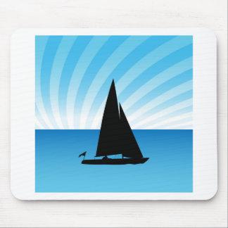 Segelboot-Mann Mauspads
