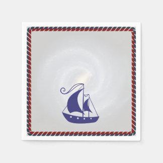 Segelboot mit Seil-Rahmen Papierserviette