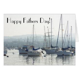 Segelboot-Vatertags-Karte Grußkarte