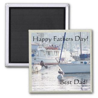 Segelboot-Vatertags-Magnet Quadratischer Magnet