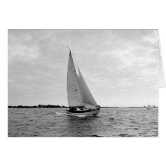 Segelboot weg von NordBimini Island, Bahamas, 1955 Karte