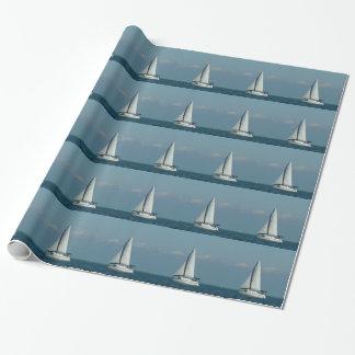 Segelboote auf dem Wasser, Geschenkverpackung Geschenkpapier
