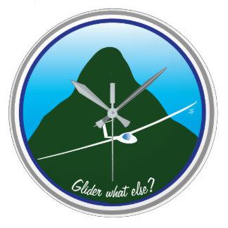 Segelflugzeug - was sonst? große wanduhr