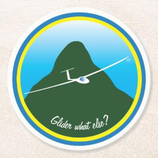 Segelflugzeug - was sonst? runder pappuntersetzer