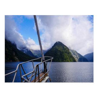 Segeln Milford Sound, Neuseeland - Postkarte