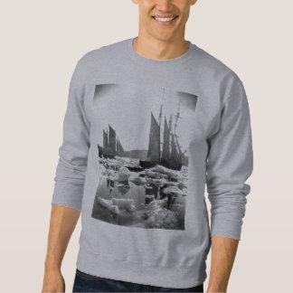 Segeln-Schiffe auf einem Eis-Gebiet - Foto 1869 Sweatshirt