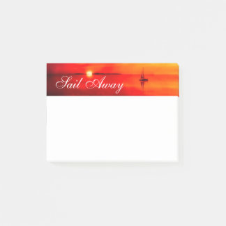 Segeln Sie in den Sonnenuntergang Post-it Klebezettel