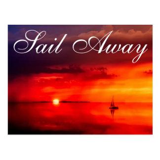 Segeln Sie in den Sonnenuntergang Postkarte