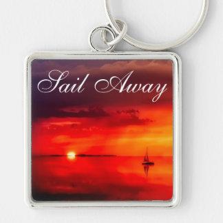 Segeln Sie in den Sonnenuntergang Schlüsselanhänger