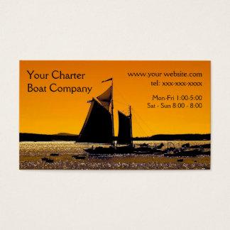 Segeln-Silhouette-Schablone Visitenkarte