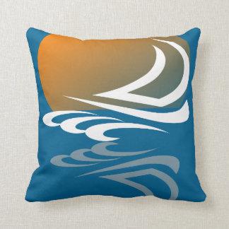 Segeln-Yacht im Sun Kissen