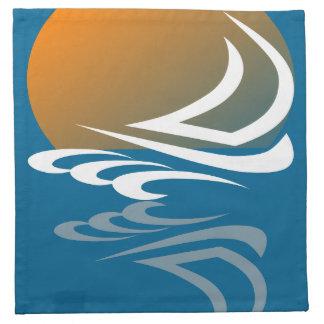 Segeln-Yacht im Sun Stoffserviette