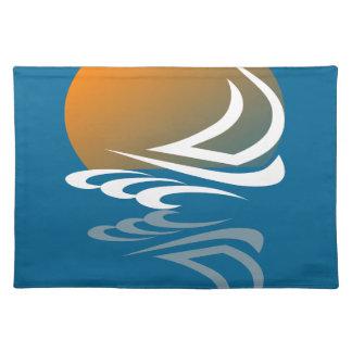 Segeln-Yacht im Sun Tischset
